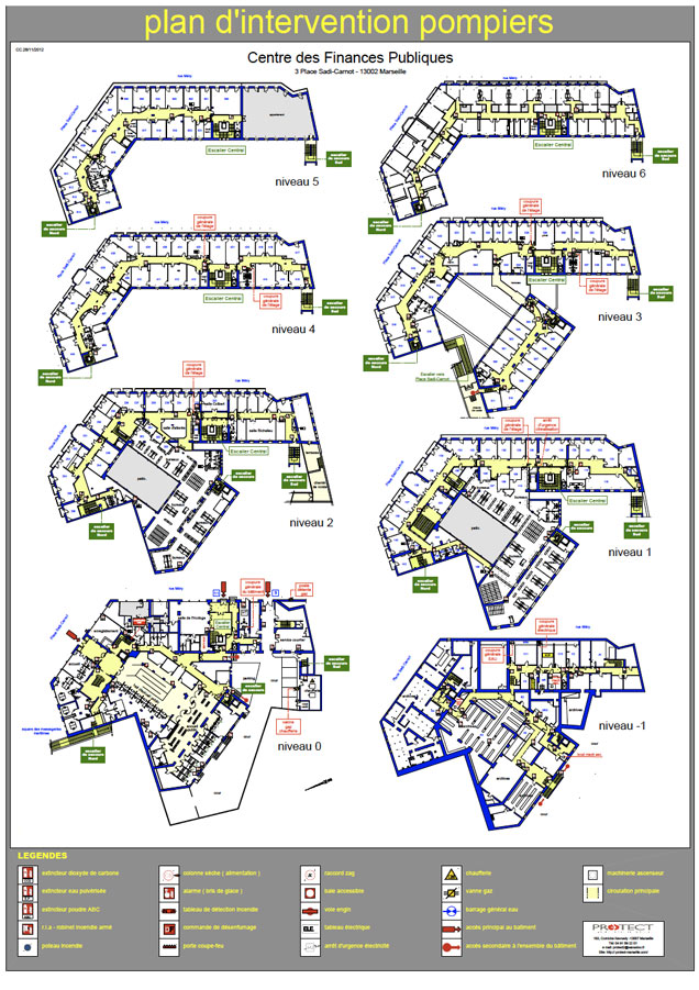 Plan d vacuation plan d intervention protect marseille for Immeuble bureau plan