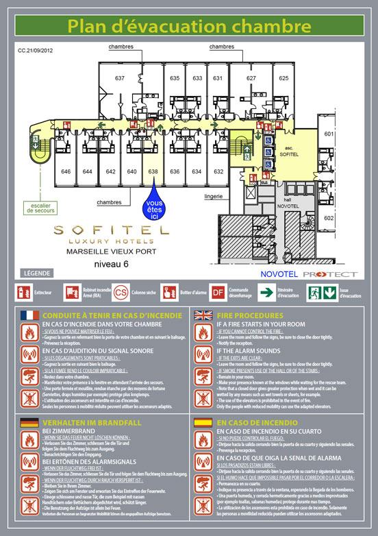 Plan d vacuation plan d intervention protect marseille for Chambre de securite