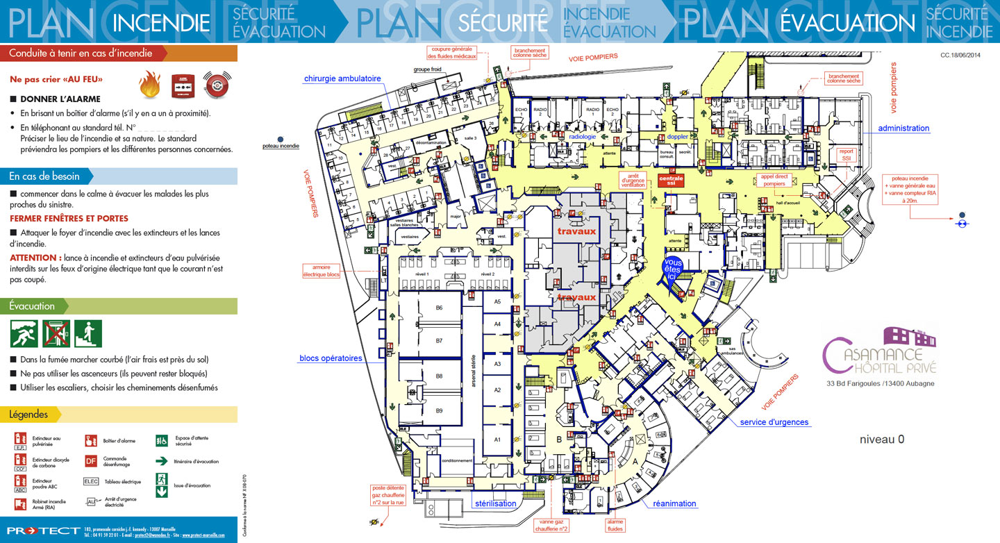 Plan d vacuation plan d intervention protect marseille for Abrite des plans et des plans
